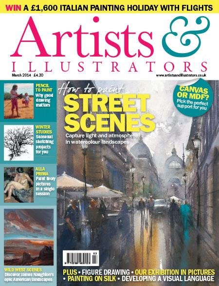 [英国版]Artists & Illustrators 插画绘画艺术设计杂志 2014年3月刊