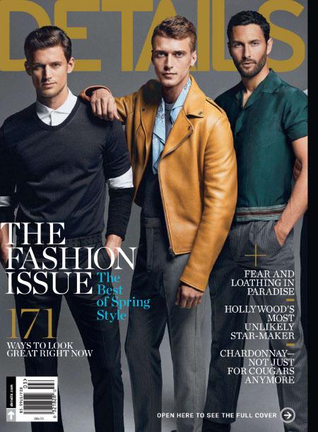 [美国版]Details 男性休闲时尚杂志 2014年3月刊