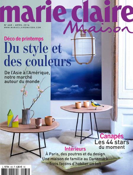 [法国版]Marie Claire Maison 玛丽家居 装饰装修设计杂志 2014年4月刊