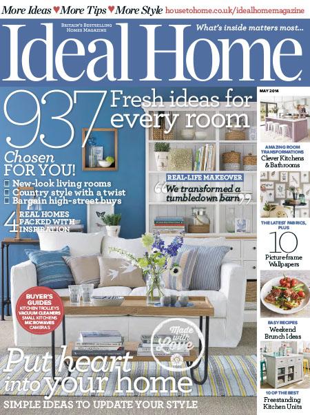 [英国版]Ideal Home 潮流家居设计装修装饰杂志 2014年5月刊