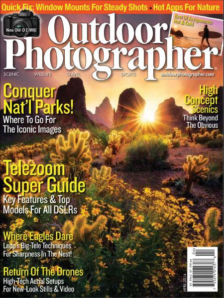 [美国版]Outdoor Photographer 户外摄影家杂志 2014年4月刊